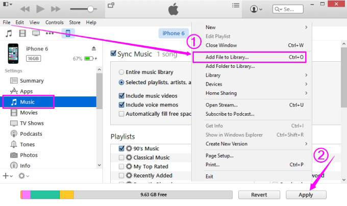 How to transfer music from computer to iphone 6/7/8/x.
